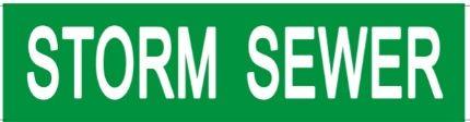 Set of 5 PCS- STORM SEWER SIGN (STICKER 2X8)