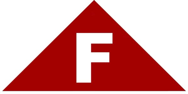 FLOOR TRUSS IDENTIFICATION SIGN (STICKER 6x6x12 TRIANGLE)