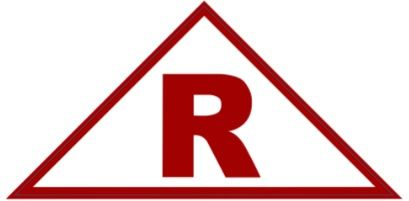ROOF TRUSS IDENTIFICATION SIGN (STICKER 6x6x12 TRIANGLE)