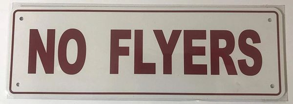 NO Flyers Sign (Aluminum Sign, 4X12)