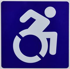 ACCESSIBILITY SYMBOL SIGN - BLUE (ALUMINUM SIGNS 6X6)