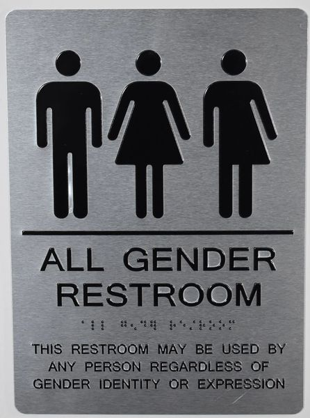 ALL GENDER RESTROOM SIGN (ALUMINUM SIGNS 11X8)
