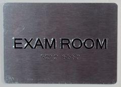 EXAM ROOM SIGN - BLACK- BRAILLE (ALUMINUM SIGNS 5X7)