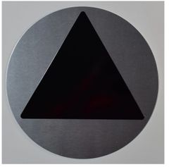 GENDER NEUTRAL RESTROOM SYMBOL SIGN (12 Inch DIAMETER) - SILVER