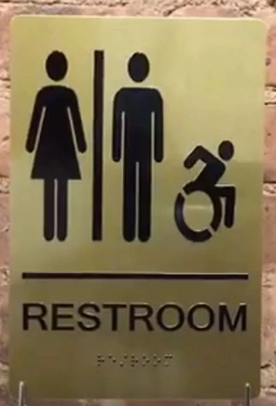 ACCESSIBLE UNISEX RESTROOM SIGNS
