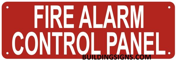 FIRE ALARM CONTROL PANEL SIGN- REFLECTIVE !!! (ALUMINUM SIGNS 4X12)