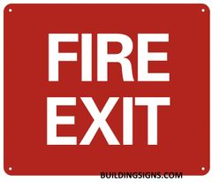 FIRE EXIT SIGN- Reflective !!! (ALUMINUM SIGNS 10X12)