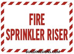 FIRE SPRINKLER RISER SIGN (ALUMINUM SIGNS 7X10)