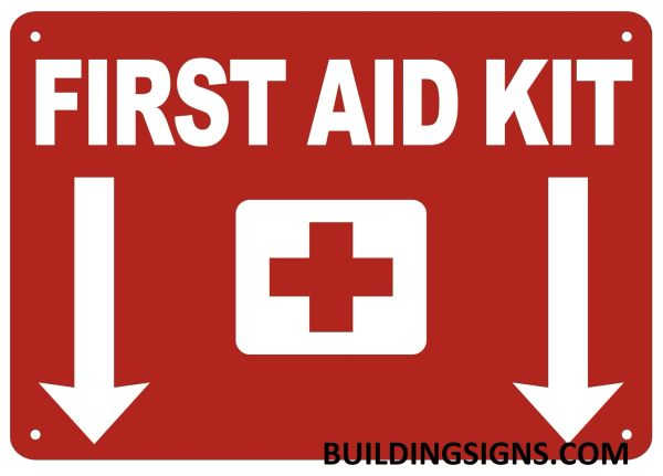 FIRST AID KIT SIGN- Reflective !!! (ALUMINUM SIGNS 7X10)