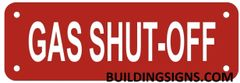 GAS SHUT-OFF VALVE SIGN- REFLECTIVE !!! (ALUMINUM SIGNS 2X6)