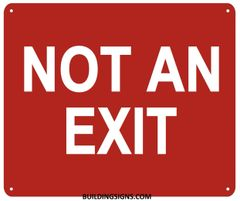 NOT AN EXIT SIGN- Reflective !!! (ALUMINUM SIGNS 10X12)