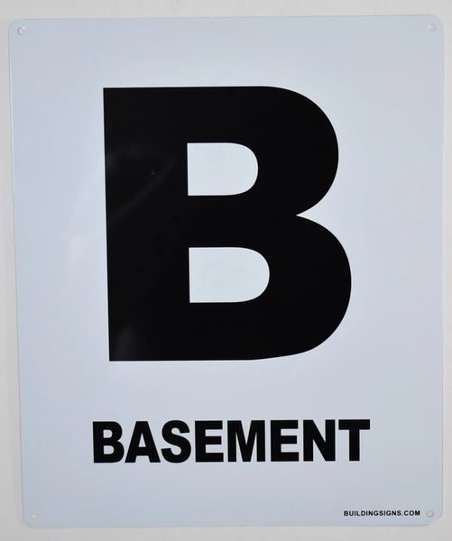 BASEMENT SIGN – (White, Rust Free Aluminium 10X12)-Grand Canyon Line