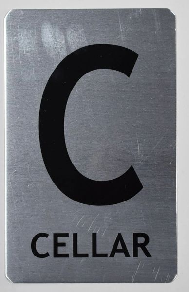 FLOOR NUMBER SIGN - CELLAR SIGN (ALUMINUM SIGNS 8X5)- The Mont Argent Line