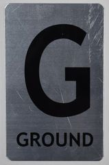 ffloor number signs- Ground floor SIGN - BRUSHED ALUMINUM (ALUMINUM SIGNS 8X5)-The Mont Argent Line
