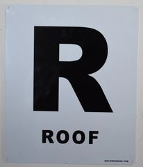 FLOOR NUMBER SIGN - ROOF SIGN -(White, Rust Free Aluminium 10X12)-Grand Canyon Line