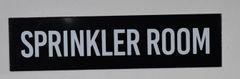 SPRINKLER ROOM SIGN- BLACK (ALUMINUM SIGNS 2X8)