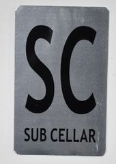 FLOOR NUMBER SIGN - SUB CELLAR SIGN (ALUMINUM SIGNS 8X5)- The Mont Argent Line
