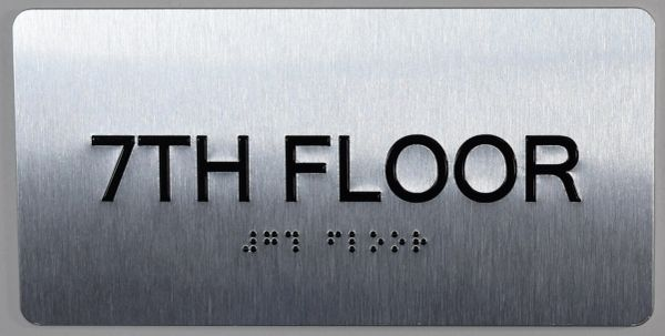 7th FLOOR SIGN- BRAILLE (ALUMINUM SIGNS 4X8)- The Sensation line