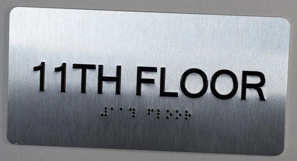 11th FLOOR SIGN- BRAILLE (ALUMINUM SIGNS 4X8)- The Sensation line