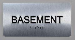 BASEMENT SIGN- BRAILLE (ALUMINUM SIGNS 4X8)- The Sensation line