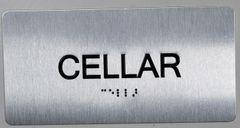 CELLAR SIGN- BRAILLE (ALUMINUM SIGNS 4X8)- The Sensation line