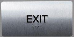 EXIT SIGN- BRAILLE (ALUMINUM SIGNS 4X8)- The Sensation line