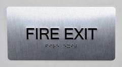 FIRE EXIT SIGN- BRAILLE (ALUMINUM SIGNS 4X8)- The Sensation line