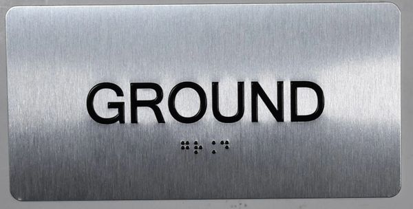 GROUND SIGN- BRAILLE (ALUMINUM SIGNS 4X8)- The Sensation line