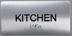 KITCHEN Sign- BRAILLE (ALUMINUM SIGNS 4X8)- The Sensation line