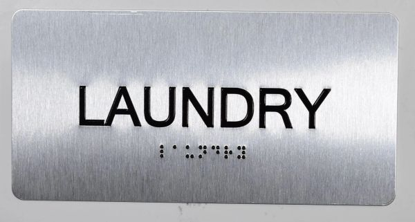 Laundry Room Sign- BRAILLE (ALUMINUM SIGNS 4X8)- The Sensation line