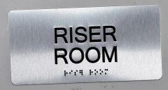Riser room Sign- BRAILLE (ALUMINUM SIGNS 4X8)- The Sensation line