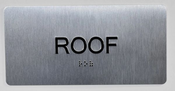 ROOF SIGN- BRAILLE (ALUMINUM SIGNS 4X8)- The Sensation line