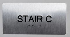 STAIR C SIGN- BRAILLE (ALUMINUM SIGNS 4X8)- The Sensation line