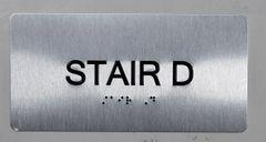 STAIR D SIGN- BRAILLE (ALUMINUM SIGNS 4X8)- The Sensation line