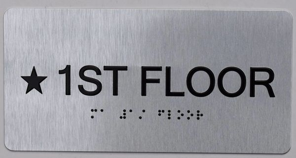 * 1ST FLOOR SIGN- BRAILLE (ALUMINUM SIGNS 4X8)- The Sensation line