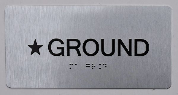 STAR GROUND SIGN- * GROUND SIGN- BRAILLE (ALUMINUM SIGNS 4X8)- The Sensation line