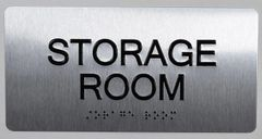 STORAGE ROOM Sign- BRAILLE (ALUMINUM SIGNS 4X8)