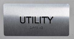 UTILITY Sign- BRAILLE (ALUMINUM SIGNS 4X8)- The Sensation line