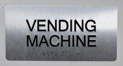 VENDING MACHINE Sign- BRAILLE (ALUMINUM SIGNS 4X8)- The Sensation line