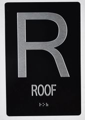ROOF SIGN - BLACK- BRAILLE (ALUMINUM SIGNS 9X6)- The Sensation line