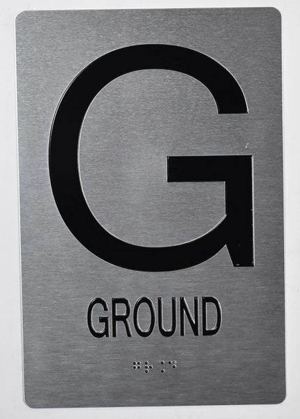 GROUND SIGN- BRAILLE (ALUMINUM SIGNS 9X6)- The Sensation Line