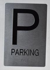 PARKING SIGN- BRAILLE (ALUMINUM SIGNS 9X6)- The Sensation Line