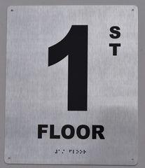 1ST FLOOR SIGN- BRAILLE (ALUMINUM SIGNS 12X10)29.99