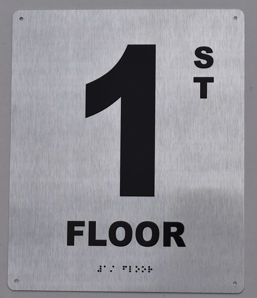 1ST FLOOR SIGN- BRAILLE (ALUMINUM SIGNS 12X10)29.99
