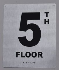 5TH FLOOR SIGN- BRAILLE (ALUMINUM SIGNS 12X10)29.99