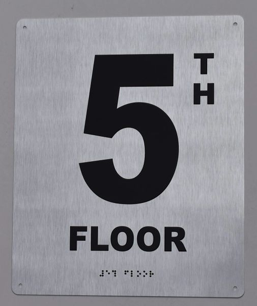 5TH FLOOR SIGN- BRAILLE (ALUMINUM SIGNS 12X10)29.99