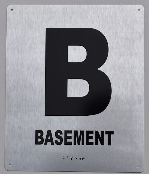 BASEMENT SIGN- BRAILLE (ALUMINUM SIGNS 12X10)- The Sensation line