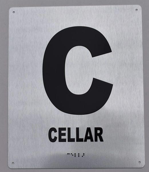 CELLAR SIGN- BRAILLE (ALUMINUM SIGNS 12X10)- The Sensation line