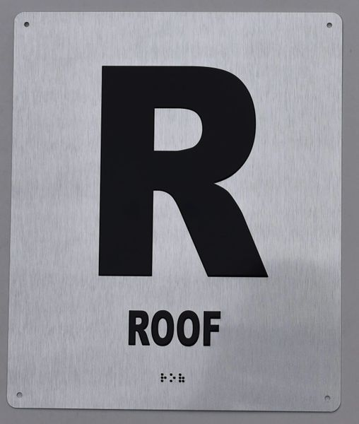 ROOF SIGN- BRAILLE (ALUMINUM SIGNS 12X10)- The Sensation line