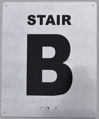 STAIR B- BRAILLE (ALUMINUM SIGNS 12X10)- The Sensation line